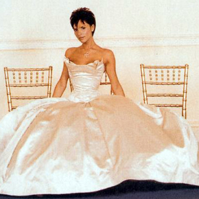 victoria beckham wedding dress designer