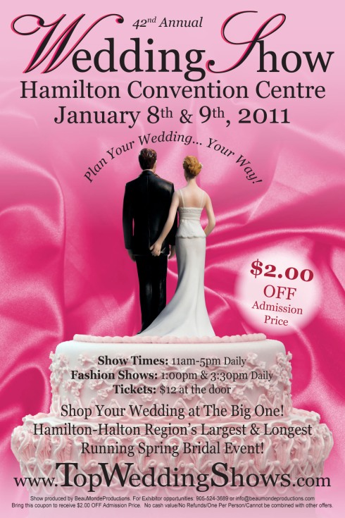 Hamilton-Halton Spring Wedding Show 2011 $2.00 OFF Coupo