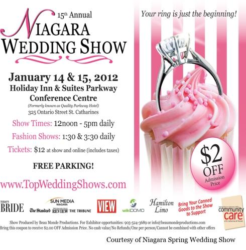 $2.00 OFF Coupon Niagara Spring Wedding Show 2012