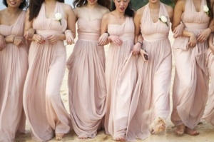 Mix N Match Bridesmaid dresses. Photo from: http://www.bridefinds.com/2012/blush-bridesmaid-dresses-make-for-the-most-gorgeous-bridal-party-photos-fact/