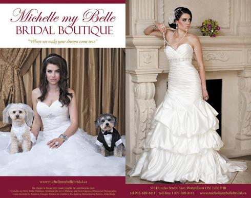 Michelle My Belle Bridal Boutique is participating in  the Hamilton-Halton Wedding Show 2013