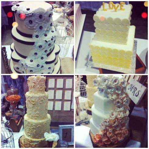 beautiful wedding cakes at the Hamilton-Halton & Niagara Wedding Shows 2013