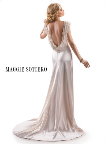 One of TopWeddingShows.com favourite gowns from the backless wedding dress trend
